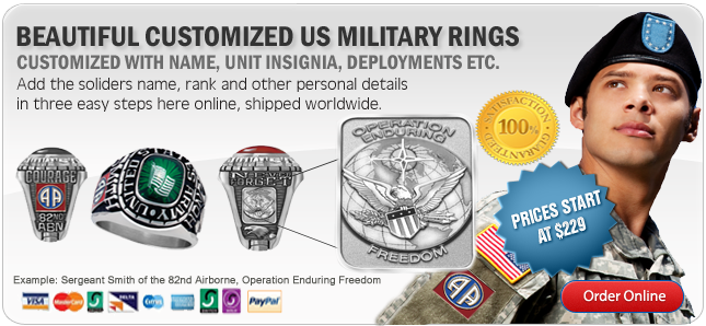 Customized Military Rings