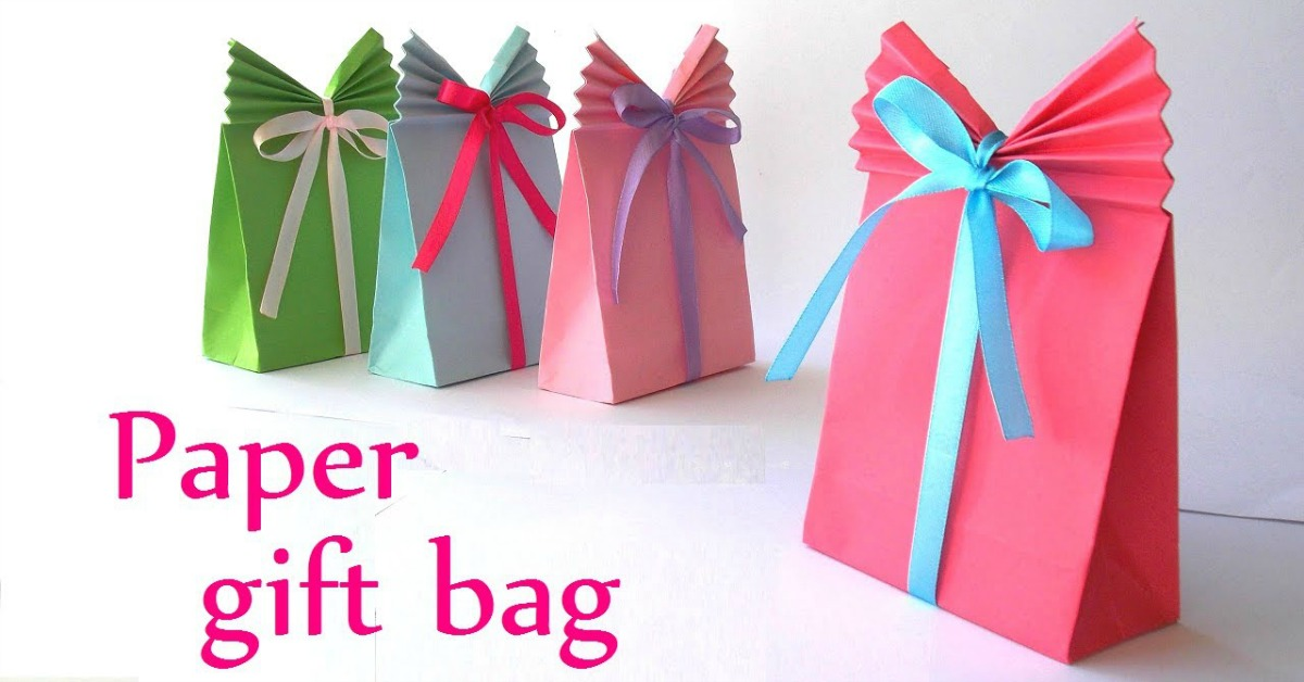 Diy Paper Gift Bag Easy Paper Craft Ideas Great Gift Ideas
